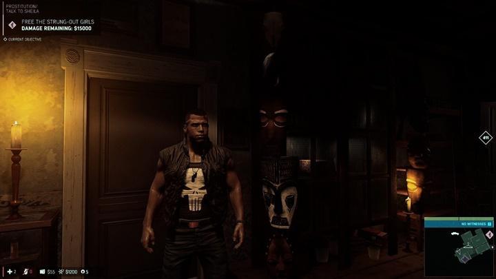 Черный бронежилет с карателем в Mafia 3
