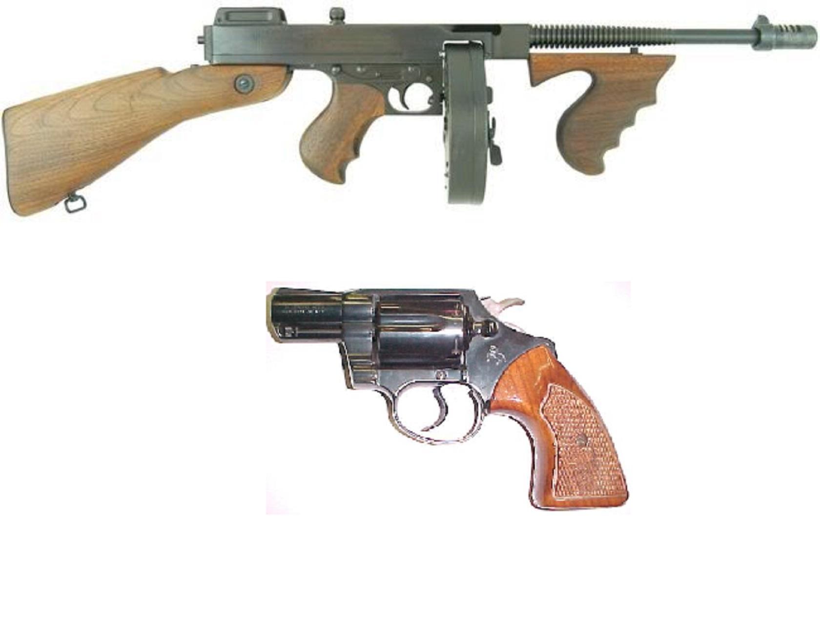Tommy Gun and Colt Detective Mod v4.0 мод в Mafia 1