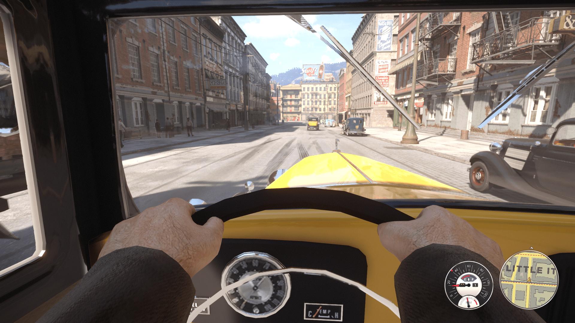 Вид от первого лица в машине для Mafia Definitive Edition