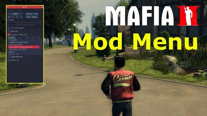 Mafia 2 – Trainer Mod Menu
